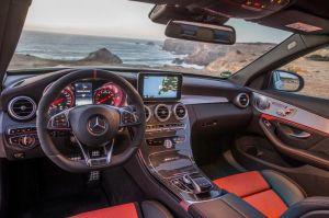 Mercedes-AMG C 63 S, designo iridiumsilber magno, Fahrvorstellung Portimao 2015; Leder Nappa red pepper/schwarz